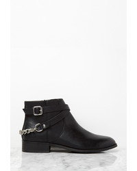 Forever 21 Chained Strappy Faux Leather Booties