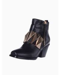 Choies Heeled Ankle Boots With Big Studs
