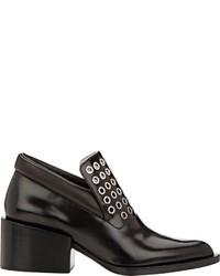 Jil Sander Embellished Ankle Booties Black