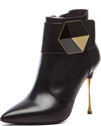 Nicholas Kirkwood Geometric Leather Ankle Boots