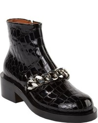 Givenchy Laura Chain Link Ankle Boots Black