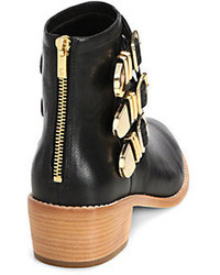loeffler randall fenton leather buckle ankle boots where