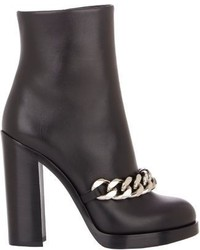 Givenchy Mirta Chain Link Ankle Boots Black