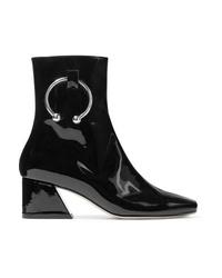 DORATEYMU Nizip Embellished Patent Leather Ankle Boots