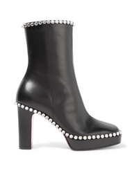 Gucci Olympia Crystal Embellished Leather Platform Ankle Boots