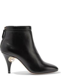 Penelope embellished leather ankle boots black medium 5082943