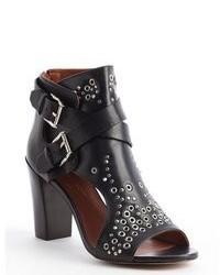 Rebecca Minkoff Black Leather Spike Studded Salma Booties