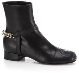 e42d2964209f ... Gucci Soho Leather Chain Detail Ankle Boots ...