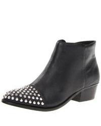 Steve Madden Praque Leather Studded Ankle Boots