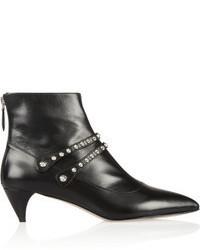 Miu Miu Studded Leather Ankle Boots