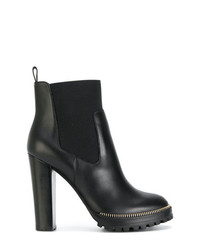 Sergio Rossi Zip Embellished Ankle Boots
