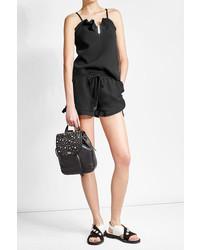 Karl Lagerfeld Embellished Leather Backpack