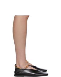 Jil Sander Black Bamboo Cuff Ballerina Flats
