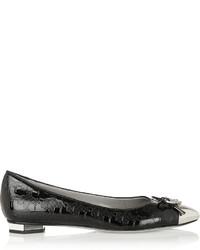 Karl Lagerfeld Kballerina Embossed Patent Leather Ballet Flats