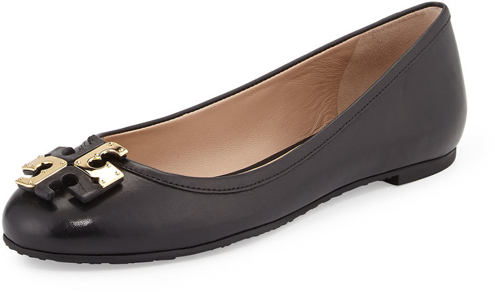 6a0eecd1a6f $250, Tory Burch Lowell Leather Ballet Flat Black
