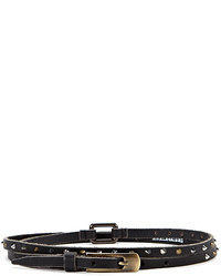 Berge Double Wrap Studded Leather Belt