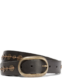 Maje Embellished Leather Belt