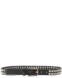 Embellished leather belt medium 728394