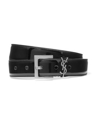 Saint Laurent Embellished Quilted Patent Leather Belt