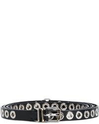 Ermanno Scervino Grommet Embellished Skinny Belt