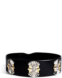 Emilio Pucci Leather Embellished Belt
