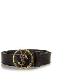 Saint Laurent Logo Buckle Vegetable Leather Belt