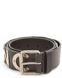 Balenciaga Logo Embellished Leather Belt