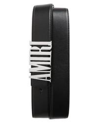 Amiri Logo Leather Belt