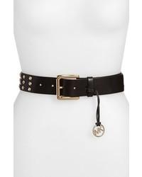 MICHAEL Michael Kors Michl Michl Kors Rhinestone Studded Leather Belt