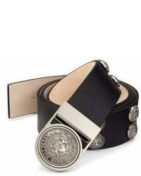 Balmain Round Studded Leather Belt