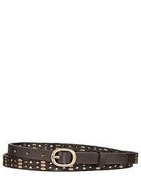 Arizona Skinny Studded Leather Belt