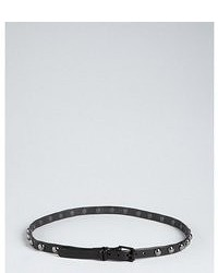 Brave Belts Slate Distressed Pebbled Leather Studded Belt