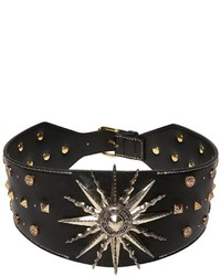 Fausto Puglisi Sun Studs Embellished Leather Belt