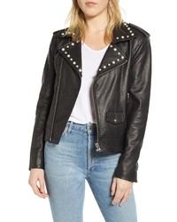Rebecca Minkoff Andrea Leather Moto Jacket