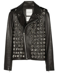 Each X Other Embellished Leather Biker Jacket