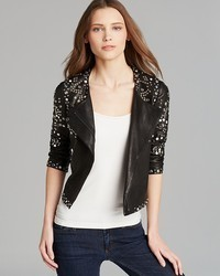 Diane von Furstenberg Jacket Arizone Embellished Leather