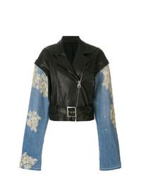 Almaz Panelled Sleeve Biker Jacket