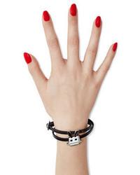 McQ by Alexander McQueen Mcq Alexander Mcqueen Embellished Leather Bracelet