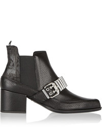 Mcq alexander mcqueen embellished textured leather chelsea boots mcq alexander mcqueen medium 169280