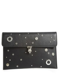 Grommet stud calfskin clutch black medium 6465882