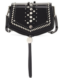 Jimmy Choo Arrow Embellished Leather Crossbody Bag