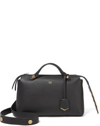 Fendi By The Way Small Embellished Leather Shoulder Bag Black