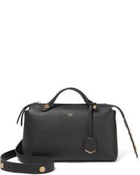 Fendi By The Way Small Embellished Leather Shoulder Bag Black