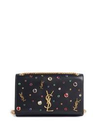 Saint Laurent Medium Kate Embellished Leather Shoulder Bag