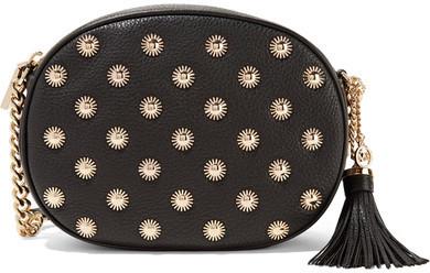 fff471218e72 ... MICHAEL Michael Kors Michl Michl Kors Ginny Embellished Textured Leather  Shoulder Bag Black ...