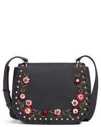 New york madison daniels drive tressa embellished leather crossbody bag black medium 5169315