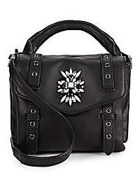 Cynthia Rowley Posy Jewel Embellished Leather Mini Crossbody