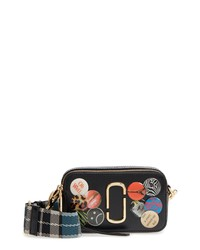 Marc Jacobs Snapshot Badges Leather Crossbody Bag