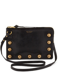 Marc Jacobs The Cabochons Secret Leather Crossbody Bag Black