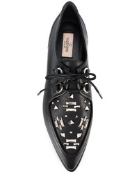 Valentino Garavani Punk Embellished Derby Shoes